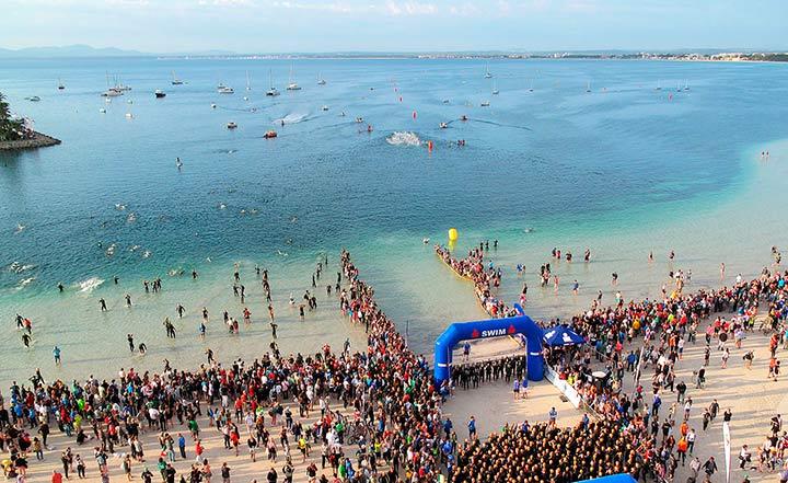Årliga Ironman-tävlingen i Alcuida